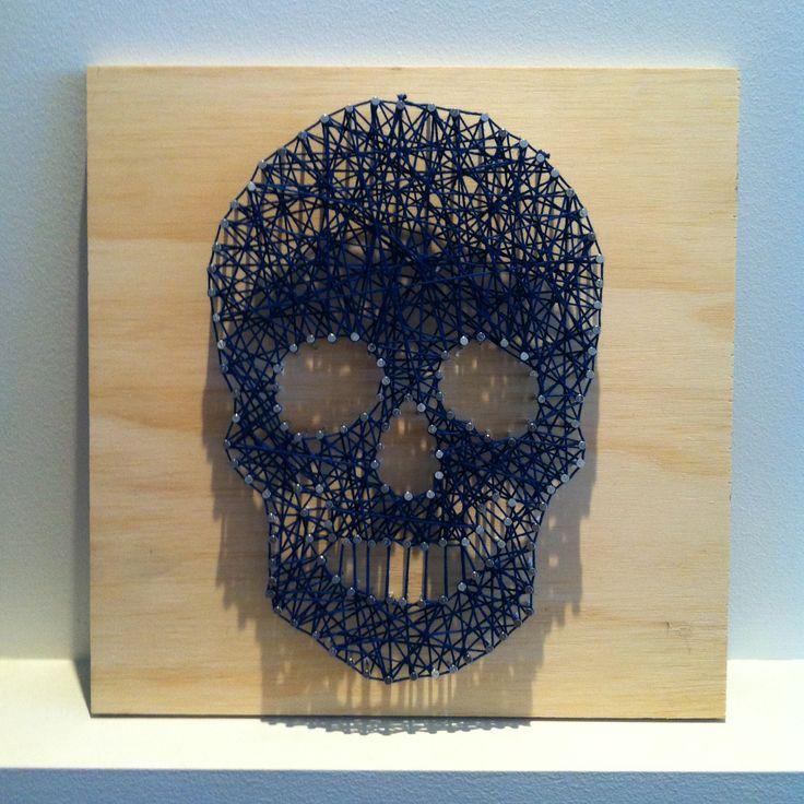 String art - skull