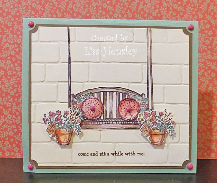 Sitting Here by ponygirl40 - Cards and Paper Crafts at Splitcoaststampers