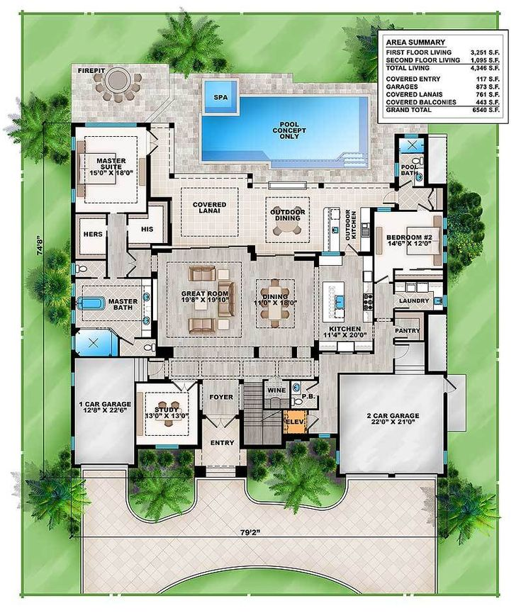 Plan 86041BW: Grand Florida House Plan