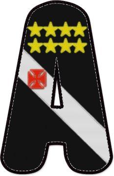 Alfabeto Decorativo: Alfabeto - Bandeira do Vasco da Gama - PNG