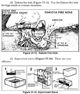 Dakota fire holes: this links to a really good and detailed guide for planning and living in a concealed bunker