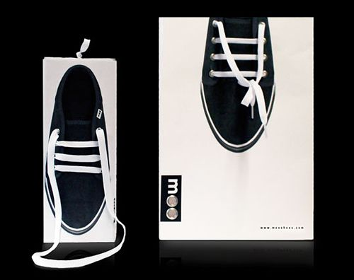 Absolutamente genial este diseño utilizando el cordón de la zapatilla
