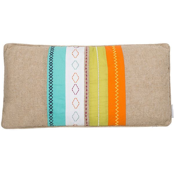 Levtex Home Taryn Burlap Pillow ($25) ❤ liked on Polyvore featuring home, home decor, throw pillows, textured throw pillows, burlap home decor and burlap throw pillows