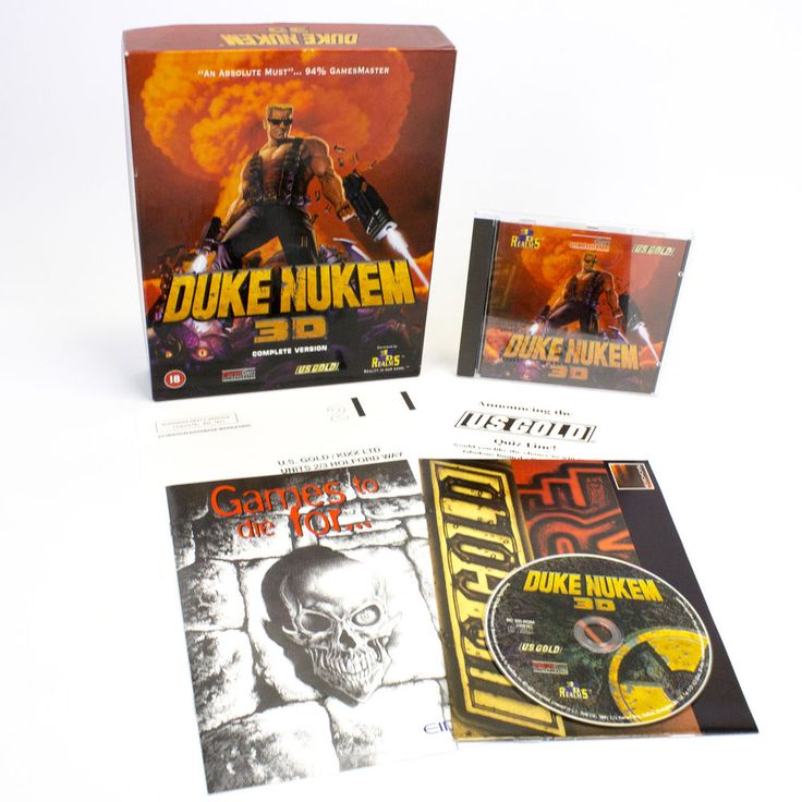 Duke Nukem 3D for IBM PC CD-ROM by 3D Realms in Big Box, 1997, CIB, VGC