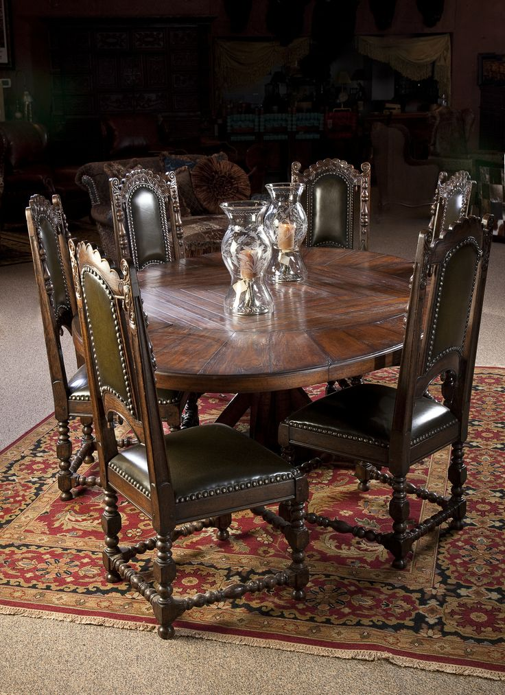 table carved dining chairs soumak rug western elegance dining room