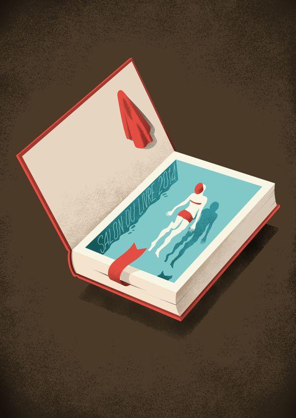 Floating: illustration selected as a finalist in the competition for the Salon du Livre of Paris 2014. http://www.salondulivreparis.com/Concours-illustration.htm