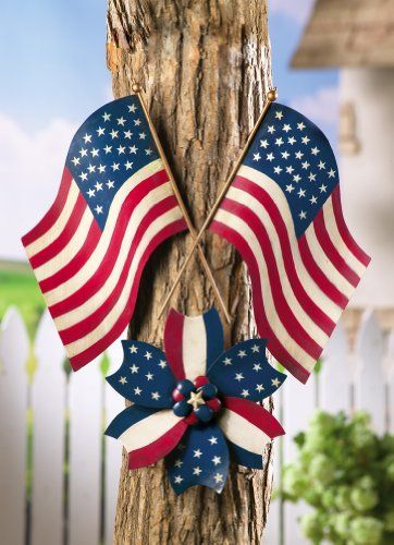 Patriotic Pinwheel 4Th Of July Outdoor Wall Decoration By Collections Etc  $11.97 (save $3.02)