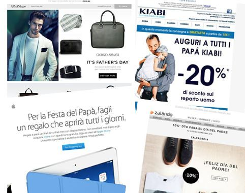 Father's Day: starting with the best emails from Italy and Spain