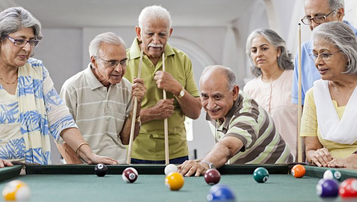 The pool room is a great place to meet up and make friends while knocking the cue ball around. There is also an adda lounge for seniors and those who prefer to lean back from the table when exercising their elbows. #SwayamCity #RealEstateKolkata
