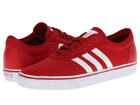 adidas Skateboarding Adi-Ease Power Red/Core White/Power Red - Zappos.