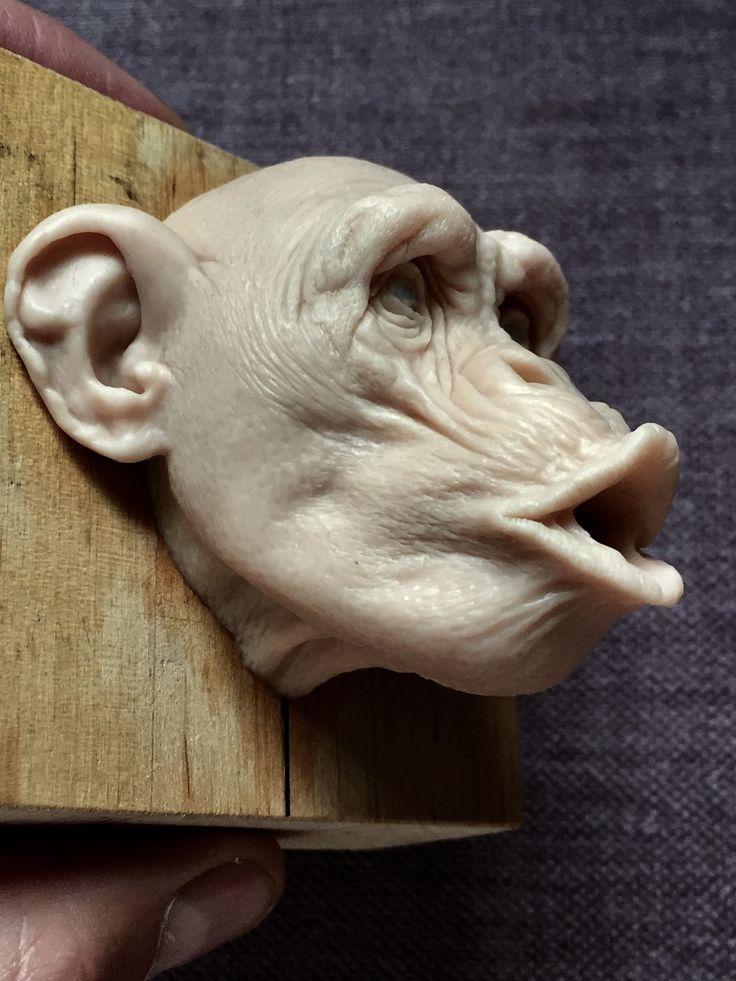 Monkey/super sculpy/ 2,5 inches/@radziewiczsculptor