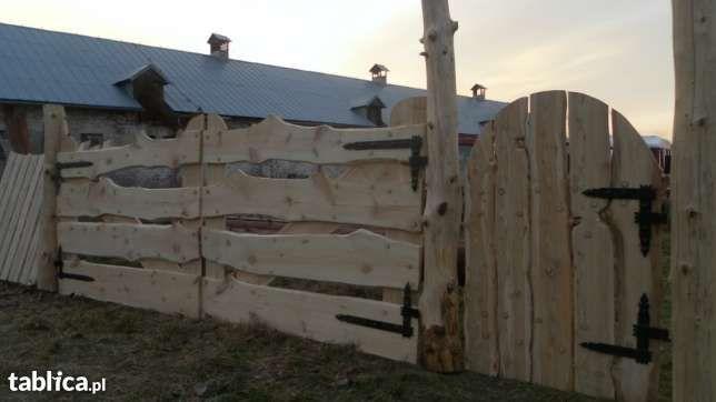 Brama Drewniane Bramy Drewniane Ogrodzenie Ogrodzenia