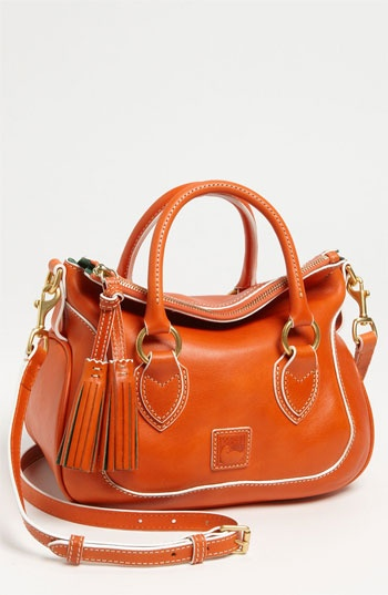 Dooney & Bourke 'Florentine - Small' Leather Satchel available at Nordstrom. As orange goes, that's a good one.
