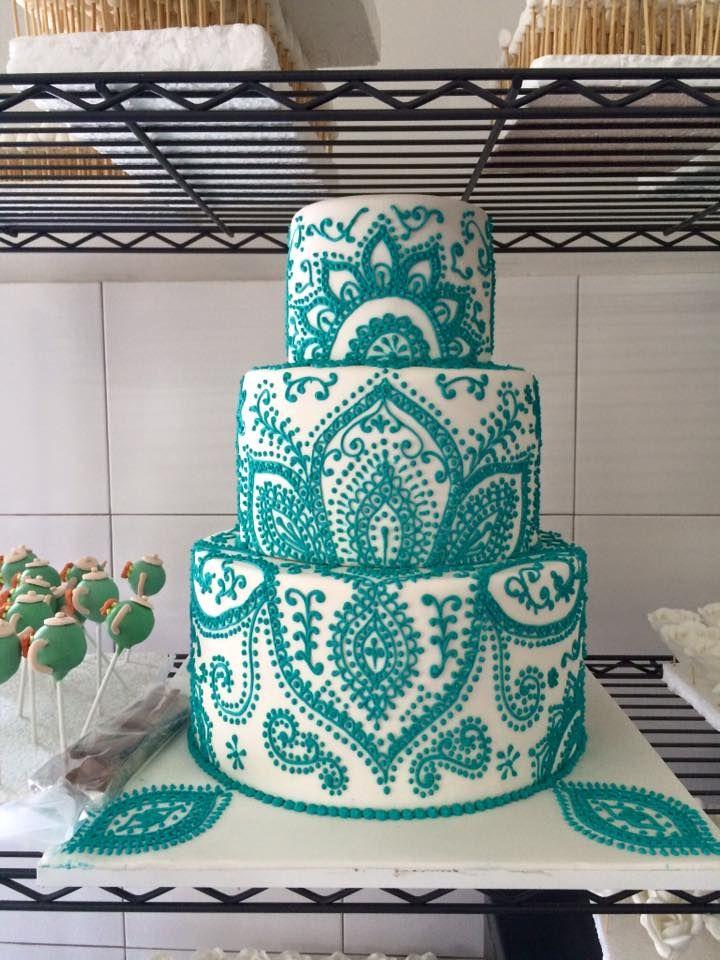 Indian Wedding Inspo, Henna Style Wedding Cake