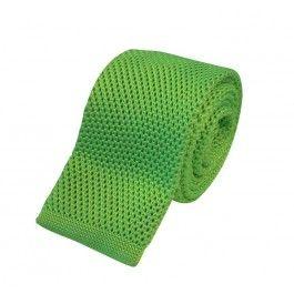 Smalt grønt strikket slips Kr. 169,00