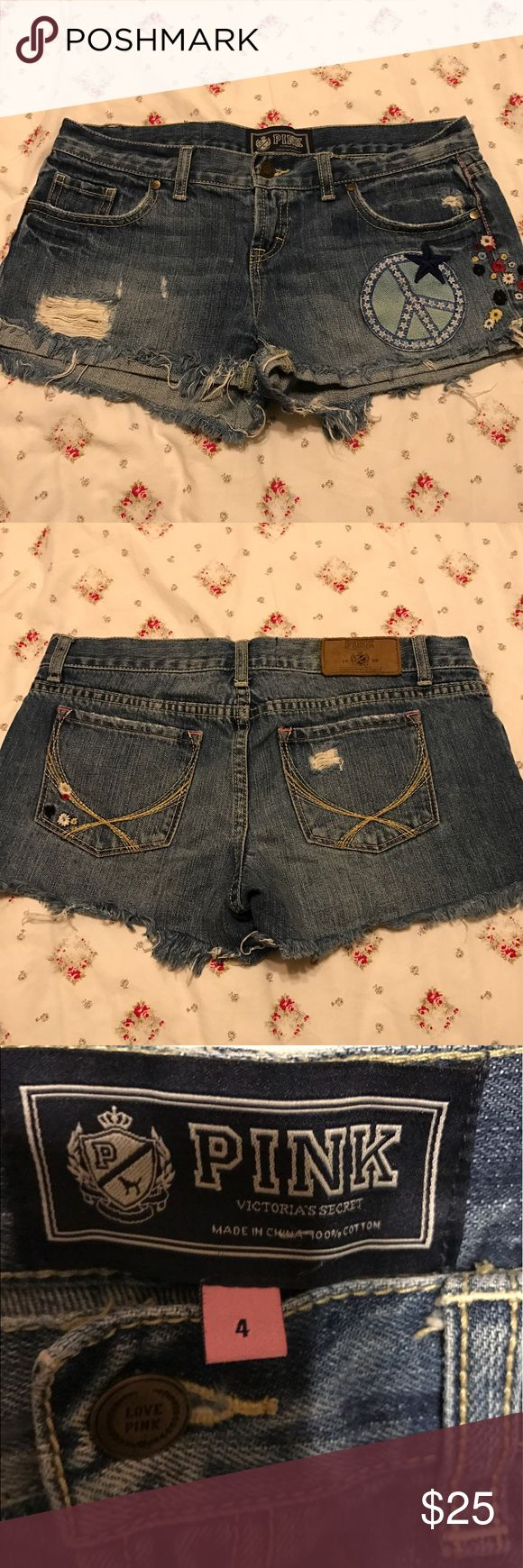 Pink Shorts Denim Pink shorts size 4 in new conditions, great for festivals and outdoor concerts for the summer. PINK Victoria's Secret Shorts Jean Shorts
