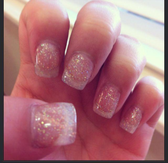 Glitter solar nails ❤
