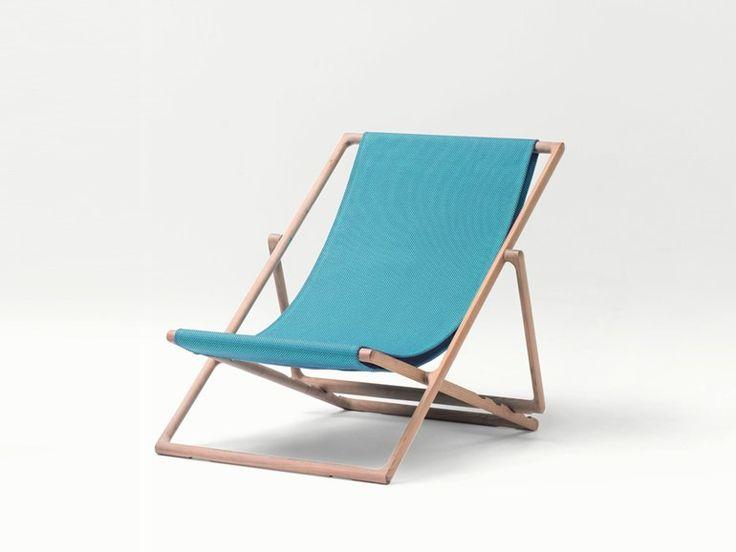 Sedia a sdraio pieghevole reclinabile Collezione Portofino by Paola Lenti | design Vincent Van Duysen