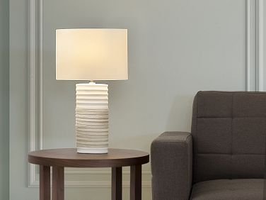 Table Lamp Creme   Modern   Bedside Lamp   Living Room Lamp   NAVIA