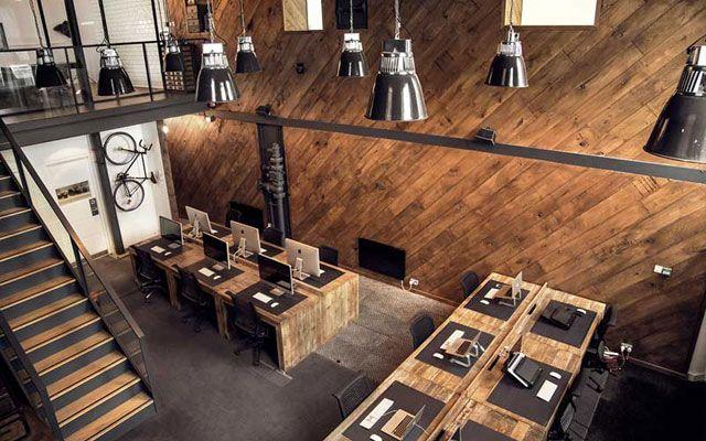 Decoración de oficina con estilo industrial: Ubiquitous    DECOFILIA.com