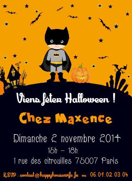 Invitation «Batman fête Halloween»