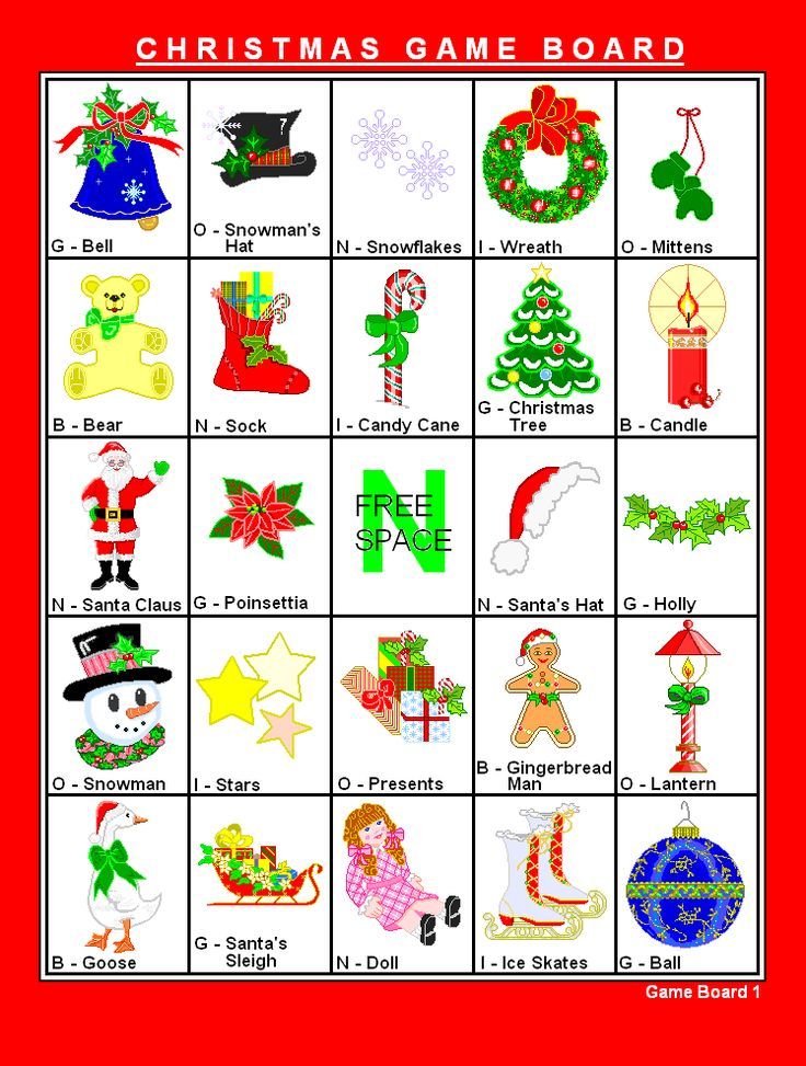 17 Best images about Christmas Games – Sample Christmas Game