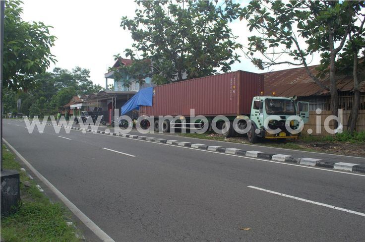 Container In Front Of The Factory