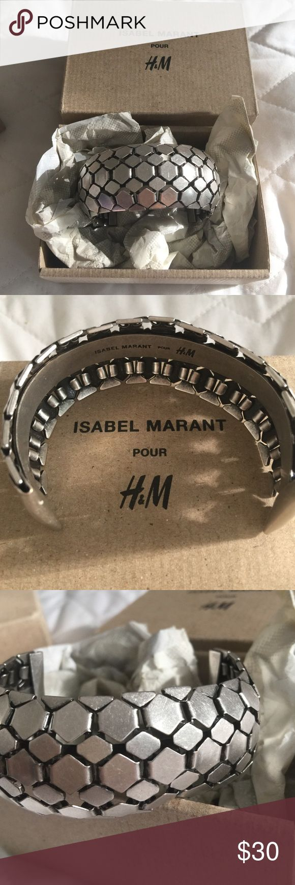 ISABEL MARANT METAL CUFF NIB Isabel Marant H&M adjustable cuff. Comes with box. Was a gift so price was peeled of box. Isabel Marant pour H&M Jewelry Bracelets