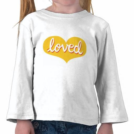 Long sleeved toddler t-shirt Yellow heart design Available in a range of styles and designs