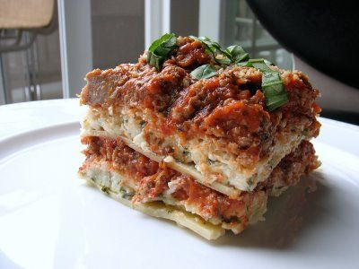 Lasagna - This is Pioneer Woman's Recipe.  It is so delicious!  I made it Christmas eve and everyone loved it.  New tradition found