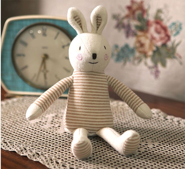 Baby Rabbit Doll Kids Toy Organic Bunny Safe Sleep Toys Eco Doll No Skin Problem #MinkElepang #PetsAnimals