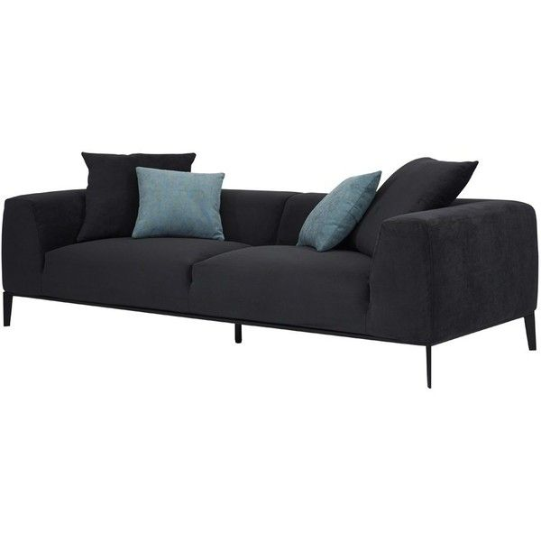 Contemporary Designer Danielle Charcoal Sofa- 2/3 Seater Scandinavian ❤ liked on Polyvore featuring home, furniture, sofas, charcoal grey couch, fabric furniture, charcoal grey sofa, upholstered couch and dark gray couch