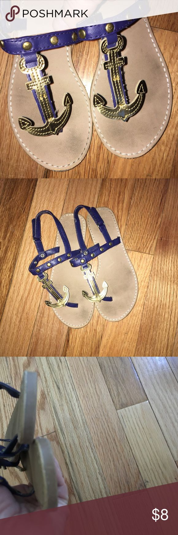 Gymboree Anchor sandals Size 12 well loved anchor sandals by Gymboree still it's if wear left Gymboree Shoes Sandals & Flip Flops