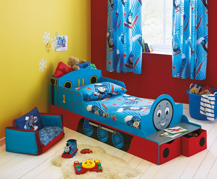 The childhood classic Thomas the Tank Engine is now available in a bright blue bed set from Argos - perfect for any young Thomas lover.