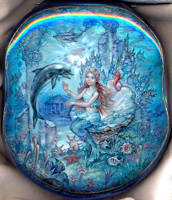 """Mermaid"" Lacquer Art by Sergey Knyazeva (Fediskino)"