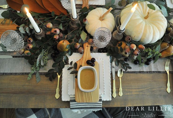 Our Thanksgiving Table Setting - Dear Lillie Studio