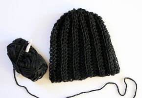 Chunky Ribbed Slouch Hat: Free Crochet Hat Pattern