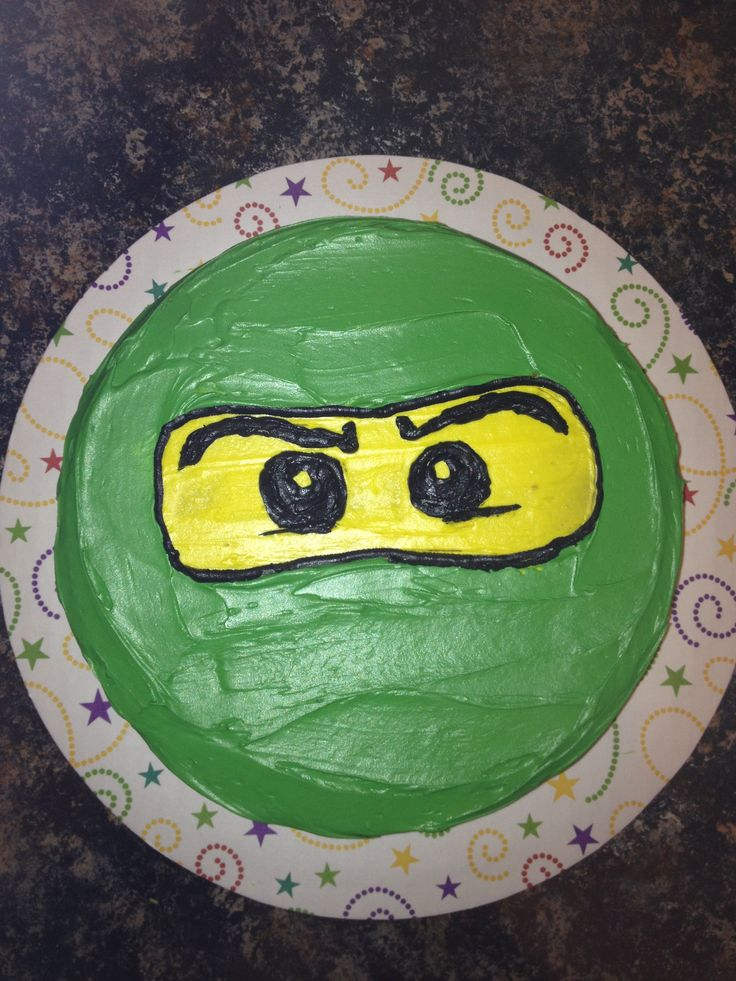 This will be Marco's 8th Birthday Lego Ninjago green ninja cake!