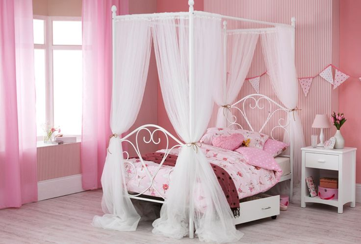 Orange Bedroom Curtains, Canopy Bedroom And Diy