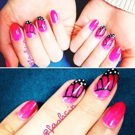 Unique butterfly nails