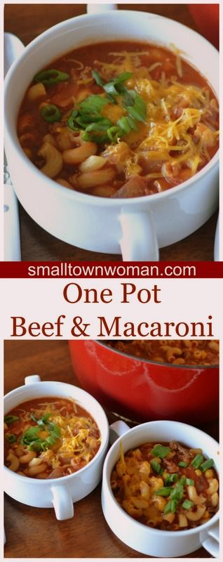 This One Pot Beef and Macaroni combines ground beef, onion, garlic, tomatoes, elbow macaroni and a perfect blend of seasonings into the most delectable savory one pot meal.