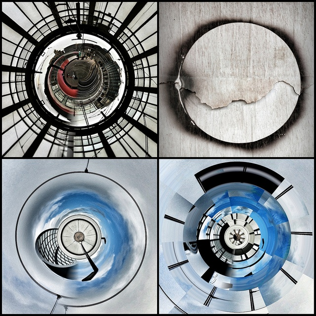 Circles by borisbschulz2009, via Flickr   #mosaicmontagemonday #montage #collage #red #black #grey #blue #iphoneography