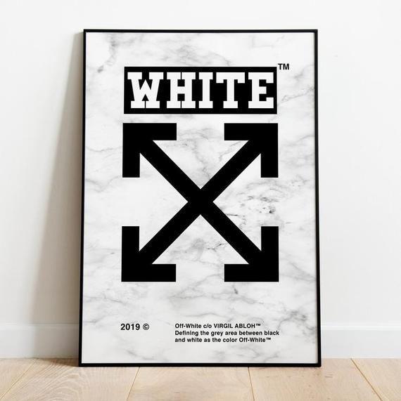 Virgil Abloh Hypebeast Poster Streetwear Poster Off White poster wall art