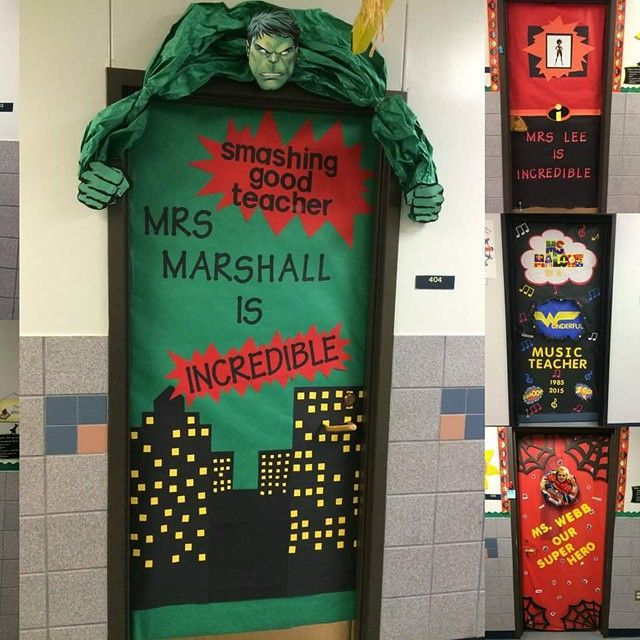Superhero Door Decor Classroom Decor Pinterest