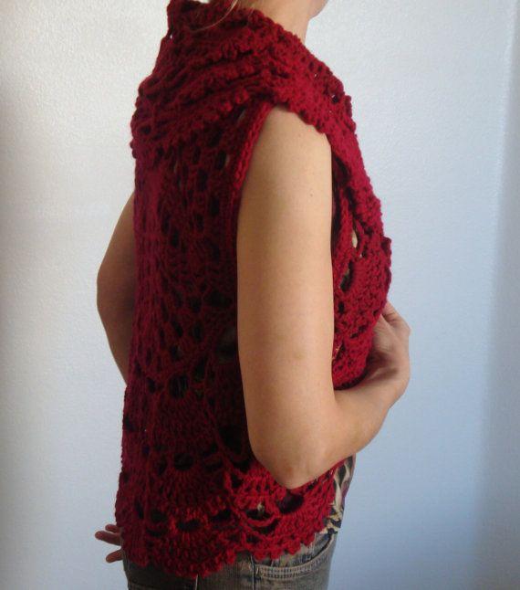 25+ best ideas about Crochet Circle Vest on Pinterest ...
