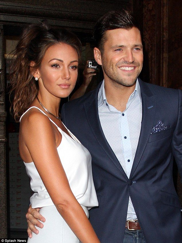 Co-ordinated couple: Mark Wright and fiancée Michelle Keegan attended the launch of Heart ...