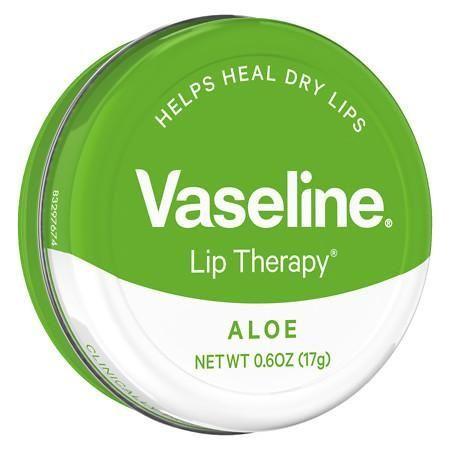 Vaseline Lip Therapy Lip Balm Tin Aloe Vera - 0.6 oz.