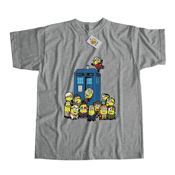 Minion Tshirt Dr. Who Shirt Minions Shirt Dr Who Shirt Tardis Tshirt Geek Shirt Doctor Who Shirt Minions Dr Who Tshirt Despicable Me Shirt
