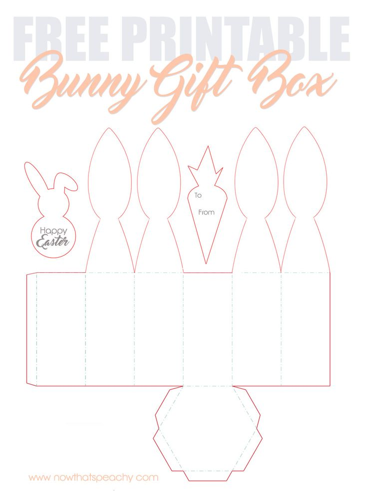 FREE Bunny Rabbit Ears favor box Printable for Easter | easy affordable gift for the kids school friends, nieces or nephews, teachers and neighbours. #freeprintable #free #template #easter #easterbunny #eastercrafts #crafts #papercraft