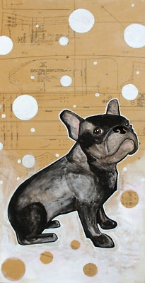 French Bulldog original painting by artist, Jax QuackenbushListed for charity French Bulldog Rescue Network